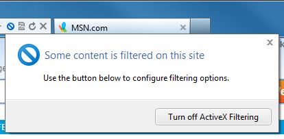 ActiveX Filtering